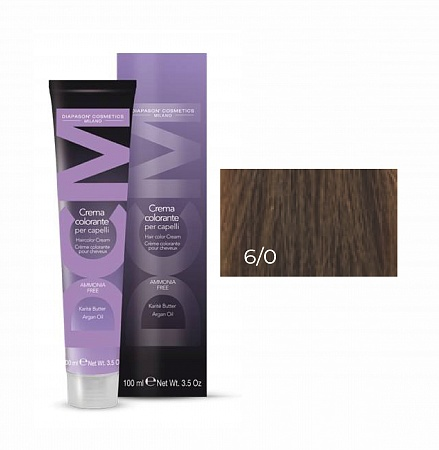 6/0 темный блондин-DCM Hair Color Cream Ammonia Free 100мл