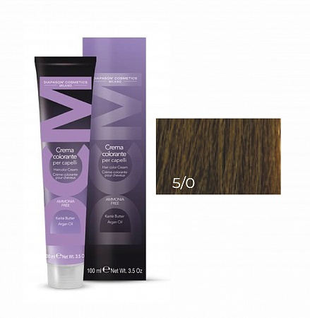 5/0 каштановый-натуральный-DCM Hair Color Cream Ammonia Free 100мл