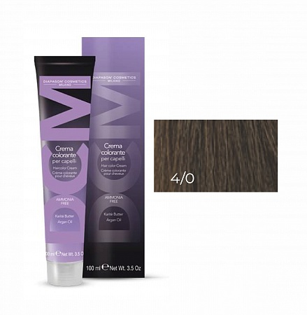 4/0 каштановый-DCM Hair Color Cream Ammonia Free 100мл